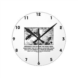 Obedience Work Honey-Bees Henry V Shakespeare Clocks