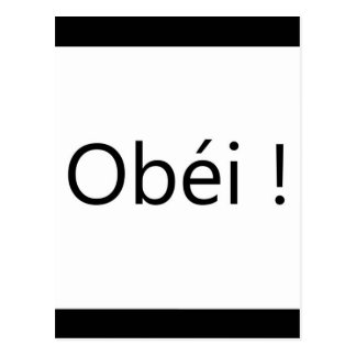 obéi postcard