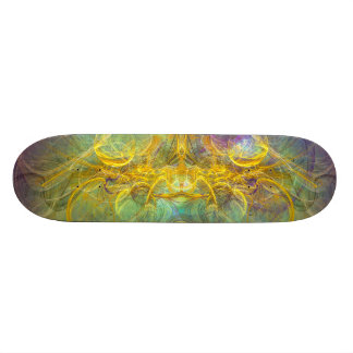 Obeisance to Nature, Colorful Digital Abstract Art Skateboards