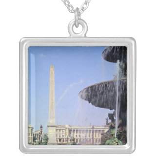 Obelisk, originally from Luxor, erected in 1836 Silver Plated Necklace