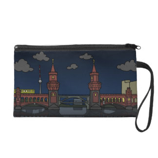 Oberbaum Bridge in Berlin at night Wristlet