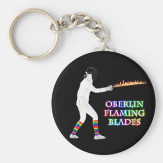 Oberlin Flaming Blades - keychain