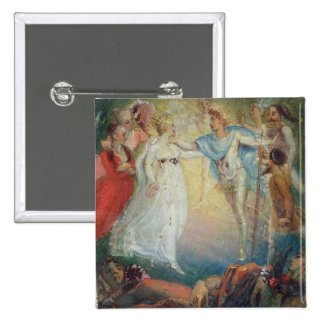 Oberon and Titania from 'A Midsummer Night's Dream 15 Cm Square Badge