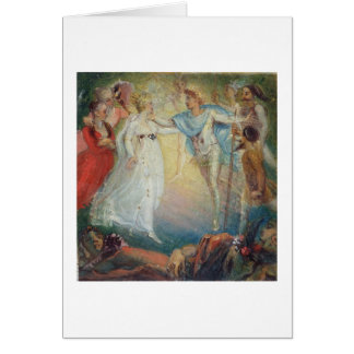 Oberon and Titania from 'A Midsummer Night's Dream Card