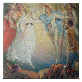 Oberon and Titania from 'A Midsummer Night's Dream Large Square Tile
