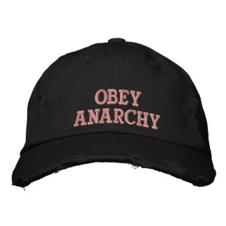 Obey Anarchy Embroidered Cap