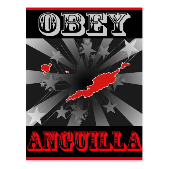 Obey Anguilla Postcard