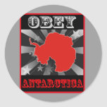 Obey Antarctica Round Stickers
