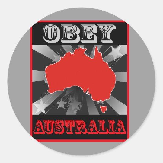 Obey Australia Classic Round Sticker