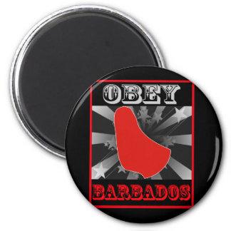 Obey Barbados Magnet