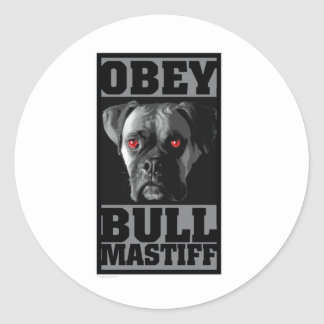 OBEY! BULLMASTIFF CLASSIC ROUND STICKER