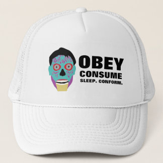 Obey Consume Sleep Conform Trucker Hat