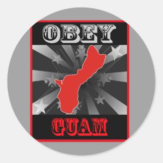 Obey Guam Classic Round Sticker