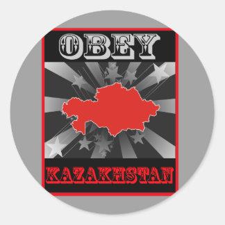 Obey Kazakhstan Classic Round Sticker