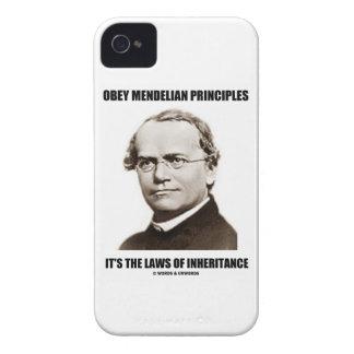 Obey Mendelian Laws Of Inheritance (Gregor Mendel) iPhone 4 Case