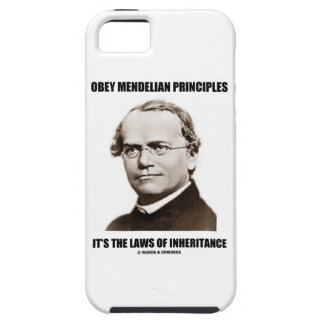 Obey Mendelian Laws Of Inheritance (Gregor Mendel) iPhone 5 Case
