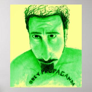 Obey Propaganda green yellow Print