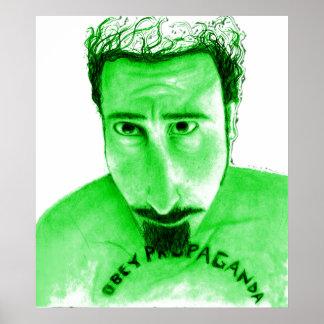 Obey Propoganda green Poster