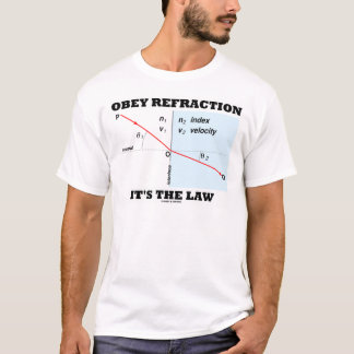 Obey Refraction It's The Law (Optics Snell's Law) T-Shirt