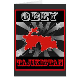 Obey Tajikistan Greeting Card