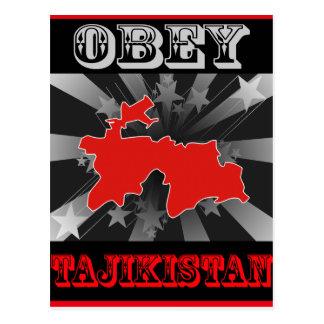 Obey Tajikistan Post Cards