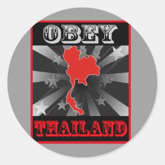 Obey Thailand Classic Round Sticker