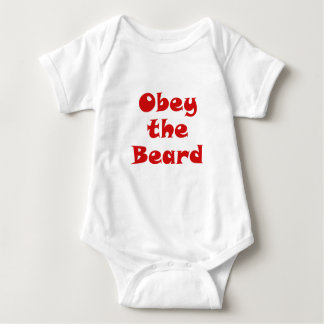 Obey the Beard Baby Bodysuit
