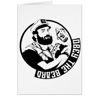 Obey the Beard Card