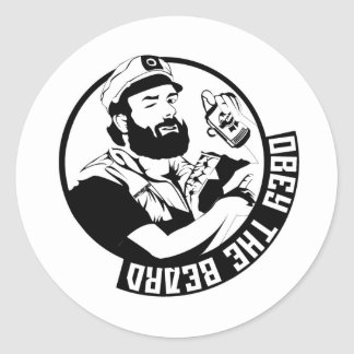 Obey the Beard Classic Round Sticker
