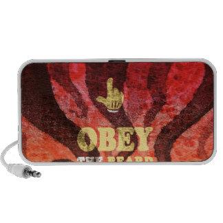 Obey the beard! iPhone speaker