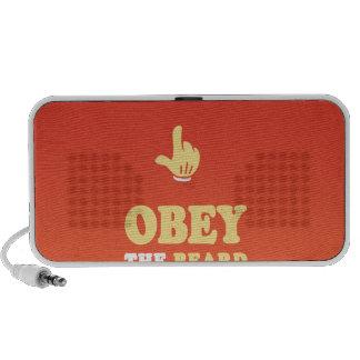 Obey the beard! laptop speaker