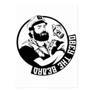 Obey the Beard Postcard