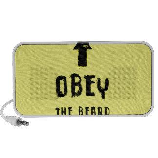 Obey the beard! travel speaker