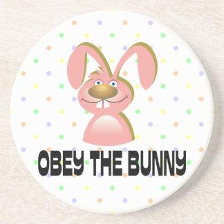 Obey The Bunny Sandstone Coaster Coasters