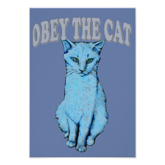 Obey the Cat Poster