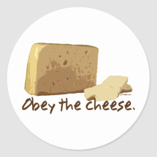 Obey the Cheese Round Sticker