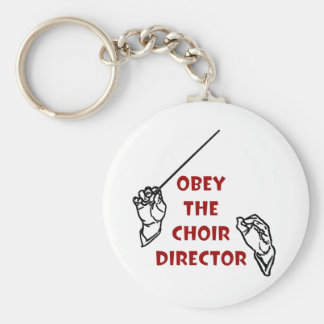 Obey the Choir Director Basic Round Button Key Ring
