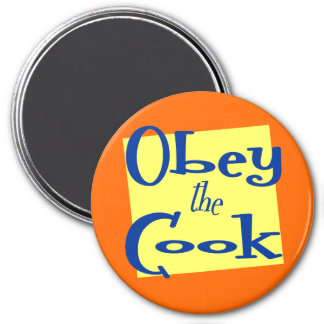 Obey the Cook Funny Kitchen Saying Magnet