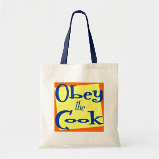 Obey the Cook Kitchen Saying Grocery Tote Budget Tote Bag