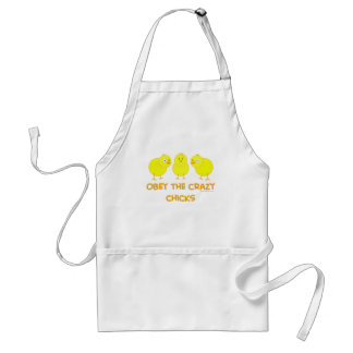 Obey The Crazy Chicks Standard Apron