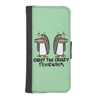 Obey the crazy Penguins Graphic Design iPhone SE/5/5s Wallet Case