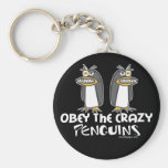 Obey The Crazy Penguins Keychains