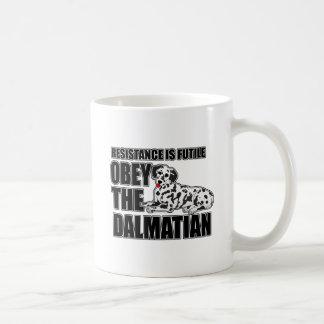 Obey The Dalmatian Coffee Mugs