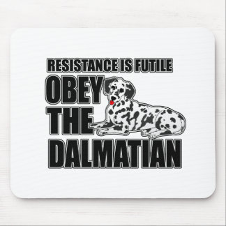 Obey The Dalmatian Mouse Pad