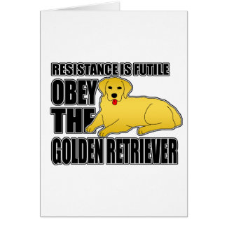 Obey The Golden Retriever Cards
