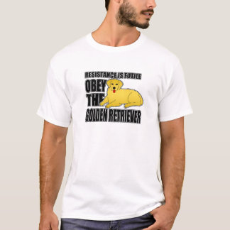 Obey The Golden Retriever T-Shirt