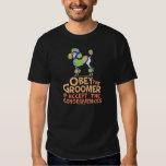 Obey The Groomer Rainbow Poodle Tshirt