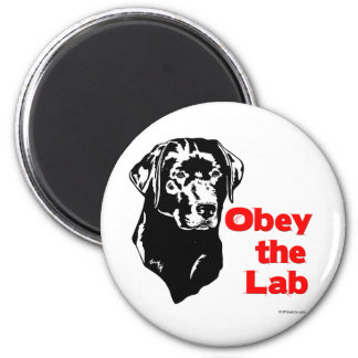 Obey the Lab Fridge Magnets