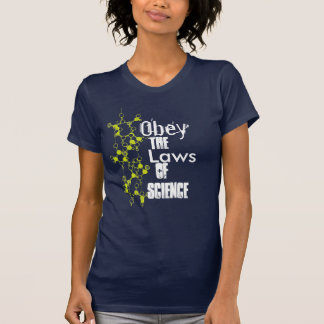 Obey the Laws of Science Molecule Black Shirt