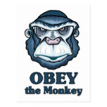 Obey the Monkey Post Cards